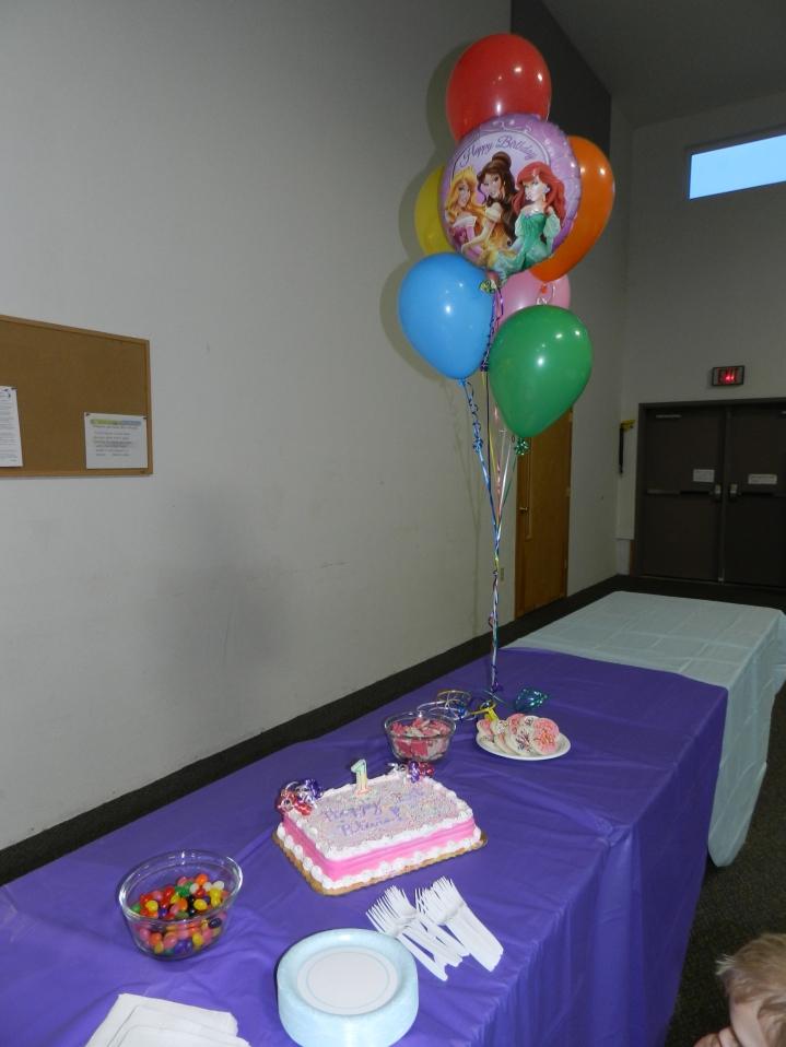 Sprinkles!!! Princess balloon courtesy of Big Sis. :-)