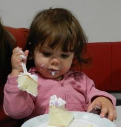 Yep, she like her cake!